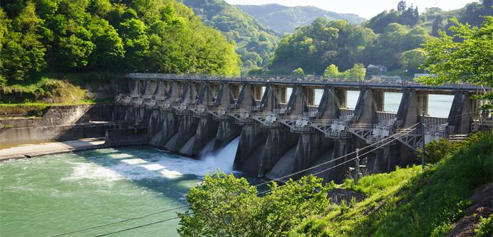 水力発電は日本にピッタリ! イメージ図