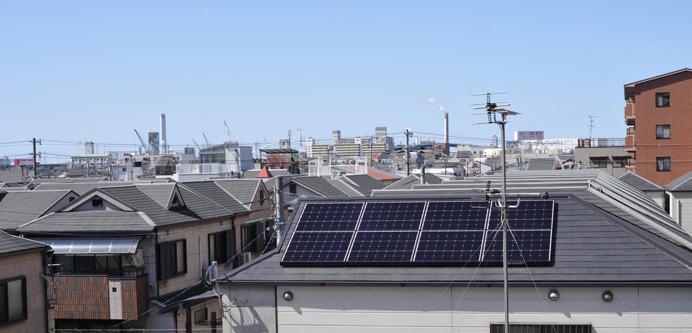太陽光発電と家