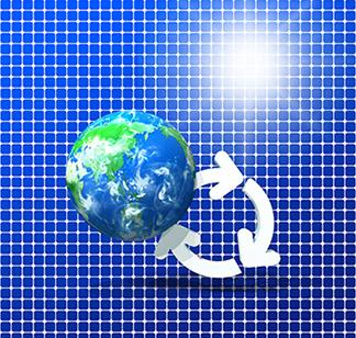 再生可能エネルギーの発電割合の推移 イメージ