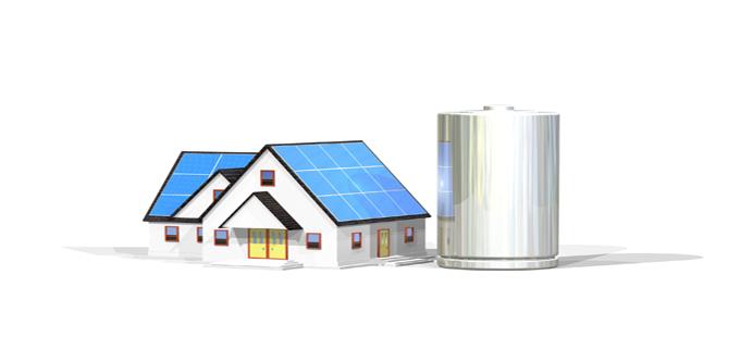 蓄電池は太陽光発電と相性抜群! イメージ図