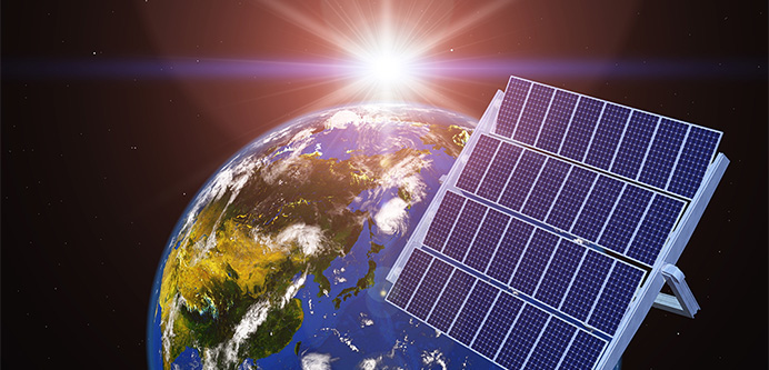 宇宙太陽光発電システムとは? イメージ図